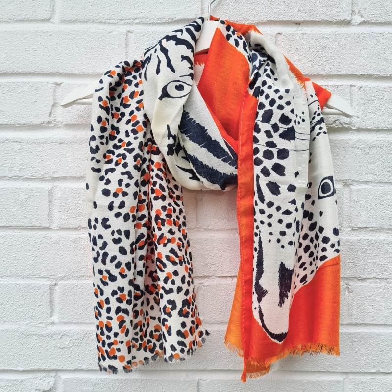 Animal Trio - Orange Scarf